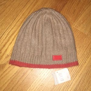 Coach ribbed knit hat